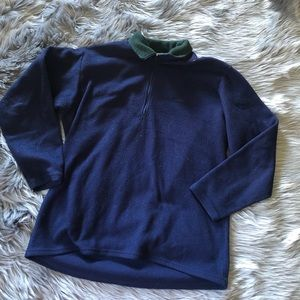 Patagonia capaline fleece quarter zip blue